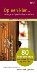 Op een kier - brochure 2012 - Westrand