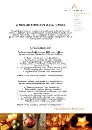 Bekijk de folder - Bilderberg
