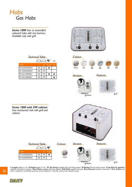 Smev Marine Cookers