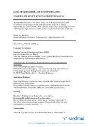 KAURI @ RANDSTAD Stakeholder review RANDSTAD ...