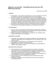 Algemene voorwaarden - VisualWeb