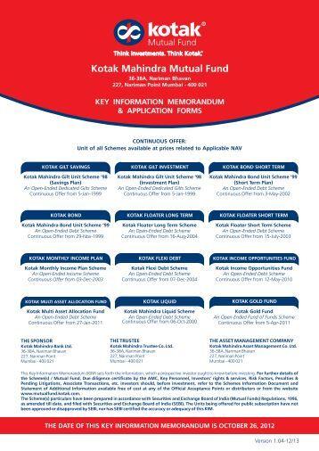 Kotak Equity Opportunities Fund - Regular Plan (G)