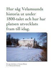 Hur såg Velamsunds historia ut under 1800-talet och hur har platsen ...