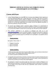 Règlement officiel du concours sans obligation d'achat ... - Coca Cola