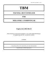 TBM - Tekniska Bestämmelser för Mekaniska anordningar - OKG AB