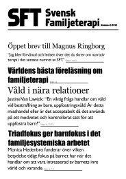 SFT – Svensk Familjeterapi nr 1 2013 - Svenska föreningen för ...