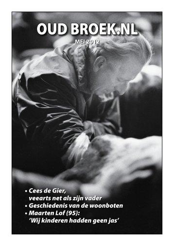 Nieuwsbrief mei 2012 - Vereniging Oud Broek in Waterland