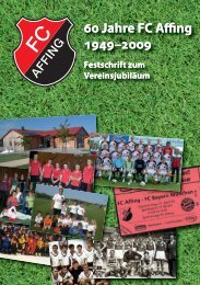 Jahre FC Affing - Fussball Club Affing 1949 ev
