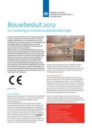 Infoblad CE markering en erkende kwaliteitsverklaringen