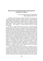 Distorsiuni ale comunicării în limba română legate de ... - A. Philippide