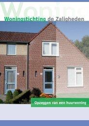 J 5315 Folder Opzeggen huurwoning.indd - Woningstichting de ...