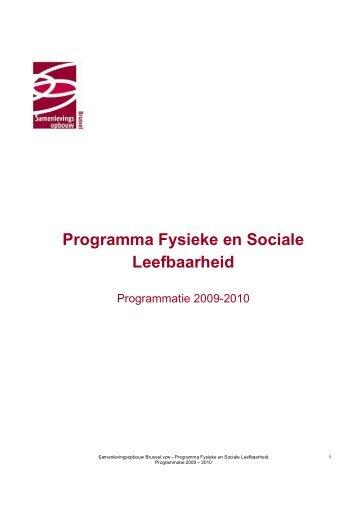 Programma Fysieke en Sociale Leefbaarheid