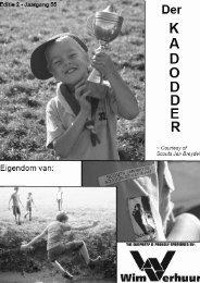 3-maandelijks programma welpen - Scouts Jan Breydel
