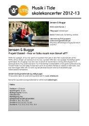 Musik i Tide skolekoncerter 2012-13 Jensen & Bugge