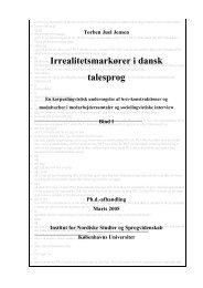 Irrealitetsmarkører i dansk talesprog - Københavns Universitet
