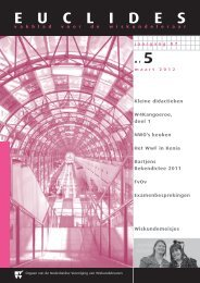 87|5 - Nederlandse Vereniging van Wiskundeleraren
