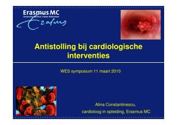 Antistolling bij cardiologische interventies - WES-Rotterdam