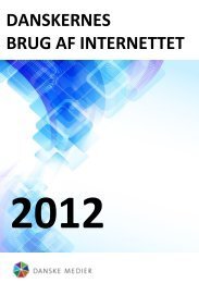 Danskernes brug af internettet 2012 - FDIM