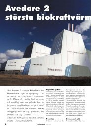 Avedøre 2 största biokraftvärmeverket - Novator