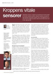 Kroppens vitale sensorer (pdf) - Aktuel Naturvidenskab