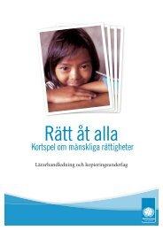 Kortspel om mänskliga rättigheter - Svenska FN-förbundet
