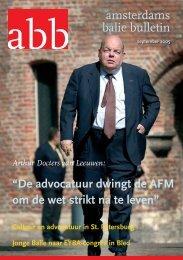 De advocatuur dwingt de AFM om de wet strikt na te leven - Het ...