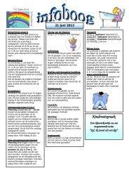 De Infoboog van 21 juni