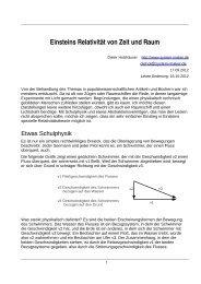 Einsteins Relativität von Zeit und Raum - system-maker.de