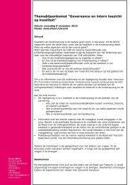 "Themabijeenkomst ""Governance en intern toezicht op ... - NVTK"