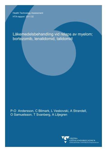 Läkemedelsbehandling vid relaps av myelom - Sahlgrenska ...