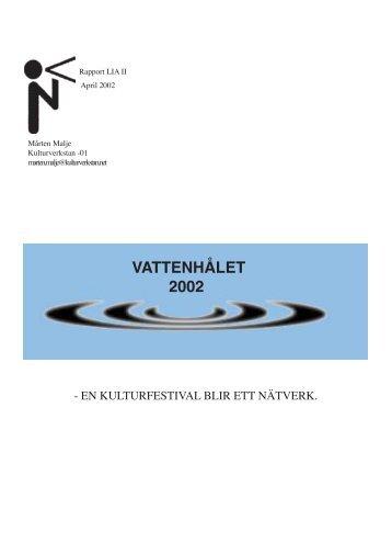 Rapport Vattenhålet - Kulturverkstan