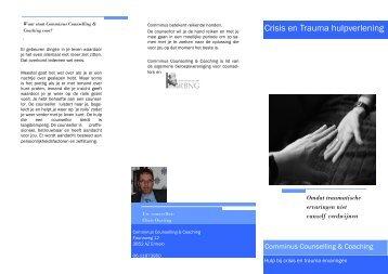 Klik hier voor de folder over Crisis en Trauma hulpverlening.