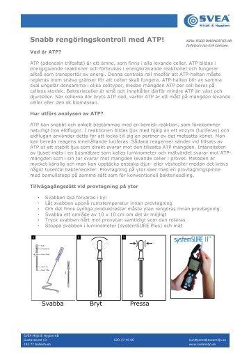 Information ATP och ATP mätare m källa - SVEA Miljö   Hygien AB 796f423887e85