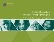 Veileder for systematisk arbeid med likestilling og mangfold