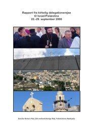 Rapport fra delegationsbesøg til Israel og Palæstina