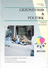 Tijdschrift Gezondheid en Politiek jaargang 1990 nr 5