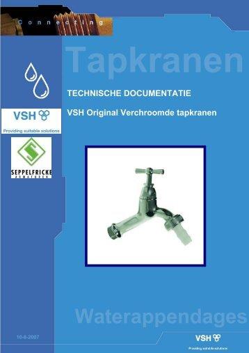 Technische Documentatie Tapkranen - Vsh
