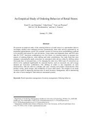 An Empirical Study of Ordering Behavior of Retail Stores