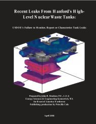 Recent Leaks From Hanford's High-Level Nuclear Waste Tanks