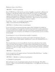 Règlement du jeu « Good Time » ARTICLE 1 - Société organisatrice ...