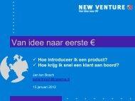Hoe introduceer ik een product? - New Venture
