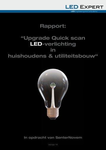 Upgrade Quick scan ledverlichting huishoudens & utiliteitsbouw
