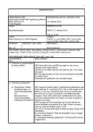 Referat af bestyrelsesmøde afholdt den 17. oktober 2012
