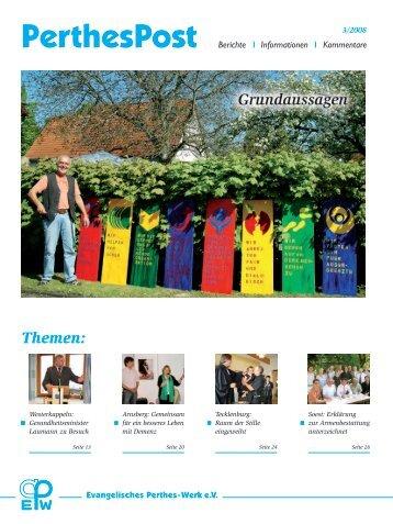 Themen: Grundaussagen - Evangelisches Perthes-Werk ev