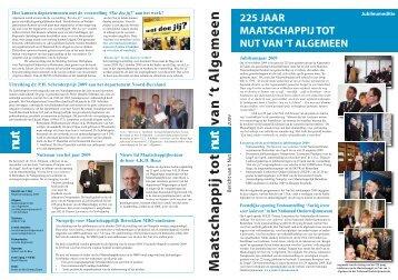Bericht 2009 - Maatschappij tot Nut van 't Algemeen