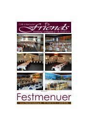 Festmenuer - Restaurant Friends