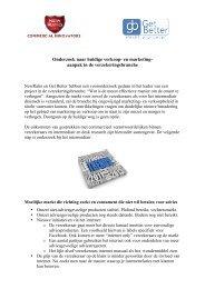 Uitkomsten onderzoek bij verzekeraars verkoop en ... - NewRatio