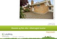 Klassisk og flot villa i eftertragtet kvarter - Lokalbolig