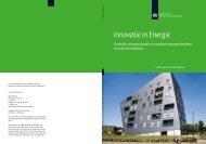Innovatie in Energie: Overzicht van een aantal innovatieve ...