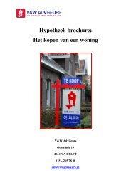 Hypotheek brochure: Het kopen van een woning - V & W Adviseurs
